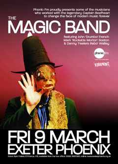 The Magic Band, Exeter Phoenix, Friday 9th March, 8pm.