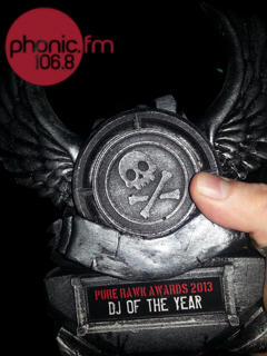 Phonic FM's Mike James scooped the Pure Rawk DJ of the Year award.