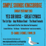 Simple Sounds Kingsbridge festival is on Sunday 26th May