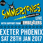 The Simmertones + support, 28 January