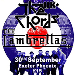 The Lambrettas + The Chords UK live, 30 September