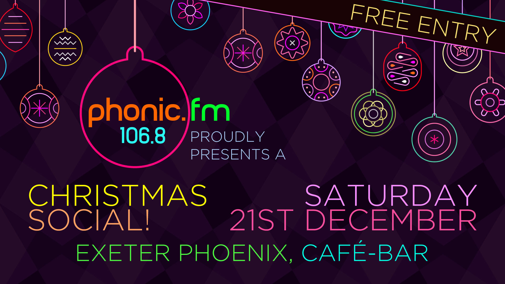 Phonic FM Xmas Party, Saturday 21 December